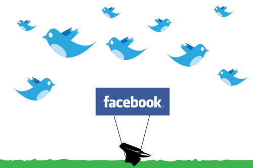 Find us on Twitter and Facebook