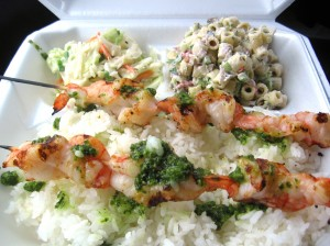 Shrimp Skewers with Chimichurri Sauce