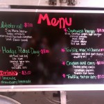 Hodge Podge's menu, day 1