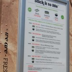 Menu from Stick It To Me