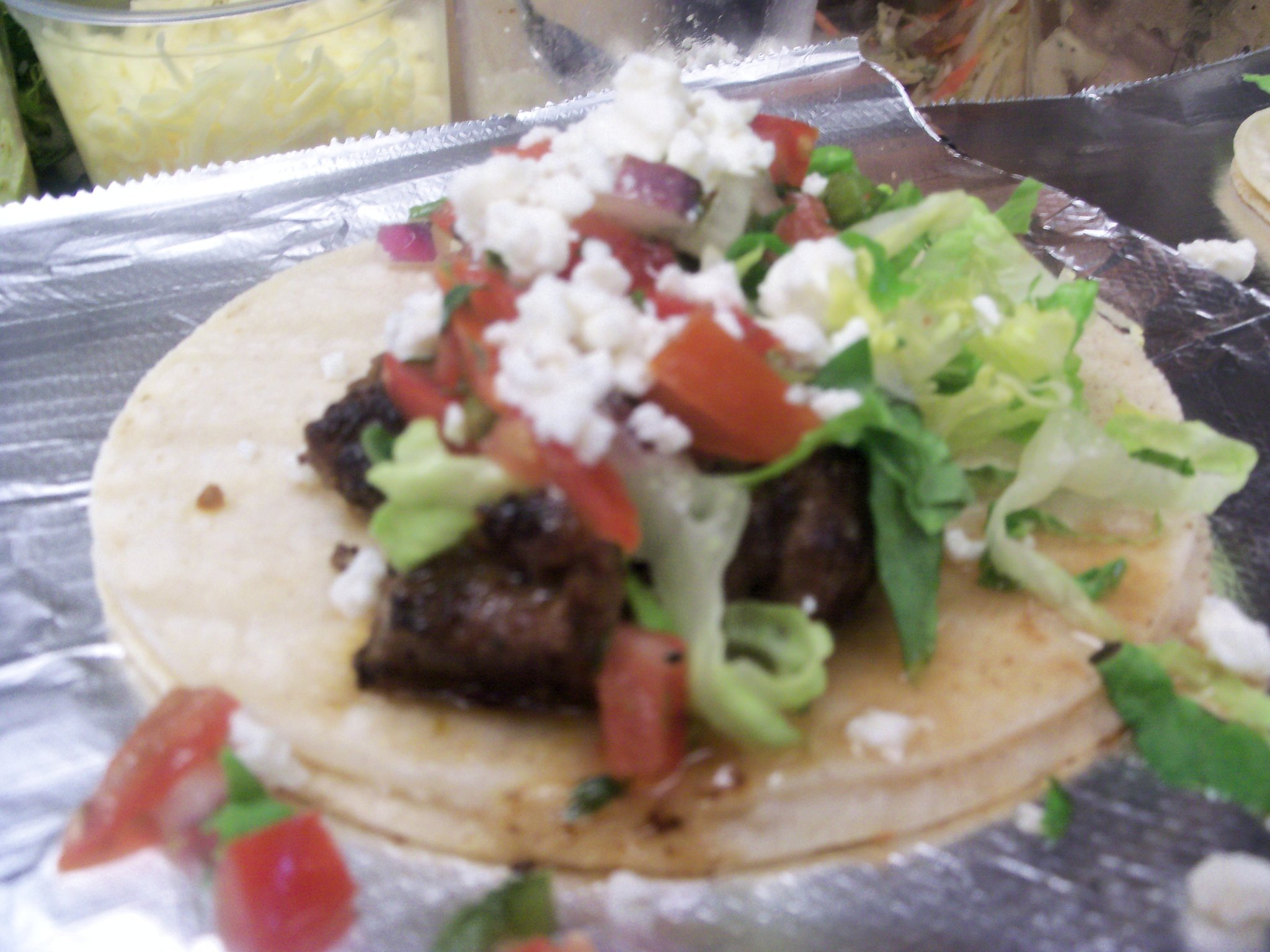 Carne Asada Tacos. Another image essentially stolen from their Facebook page.